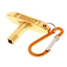 цена на Metal Golden Standard Drum Key Keychain for Jazz Drum Replacement Parts Accessories