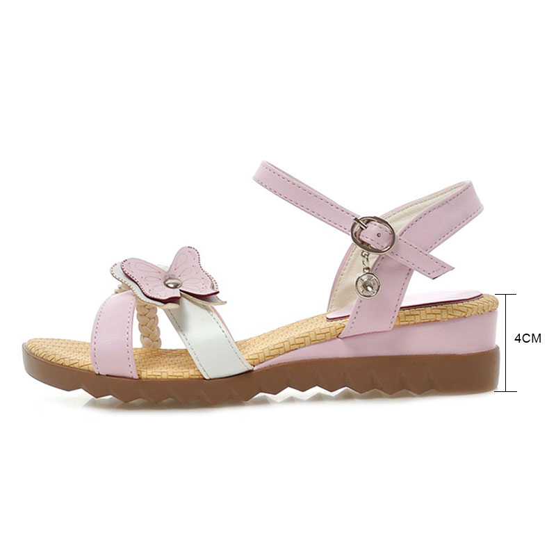 ce0593e8f Daidiesha Women Sandals Casual Flat Summer Shoes Sweet Butterfly Flats  Sandals for Women Mixed Colors Ladies Beach Pink Sandals