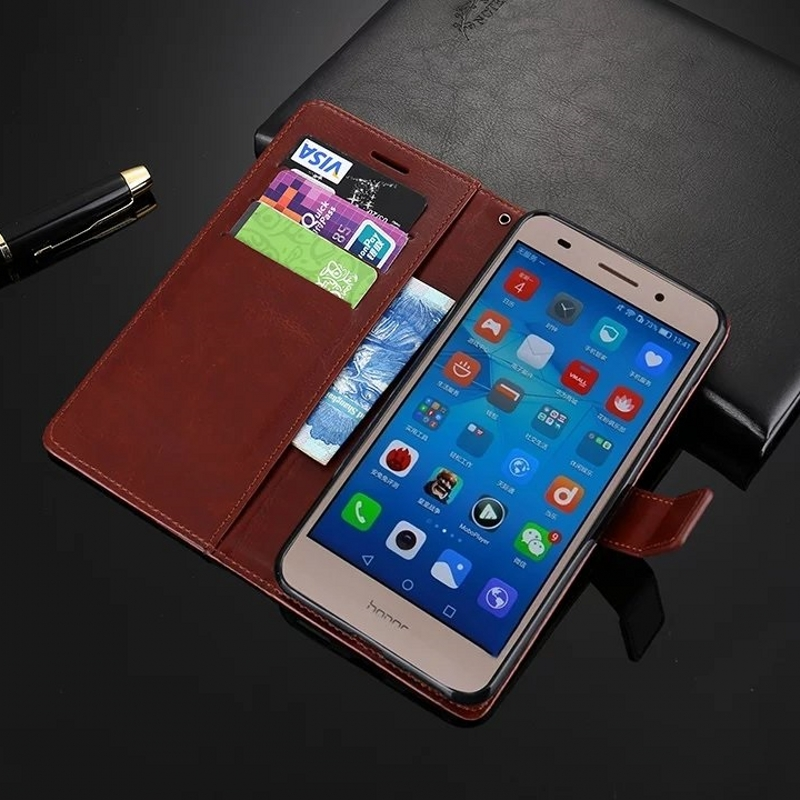 For Huawei Honor 5A Retro Wallet Stand Flip Leather Case For Huawei Honor 5A Case Cover Bag With Card Slot Kickstand