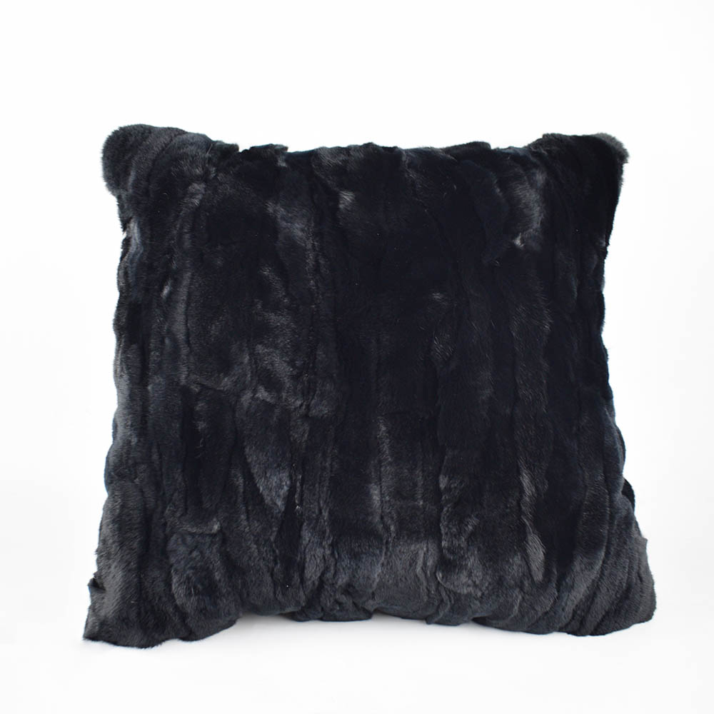 rex rabbit fur pillow 7