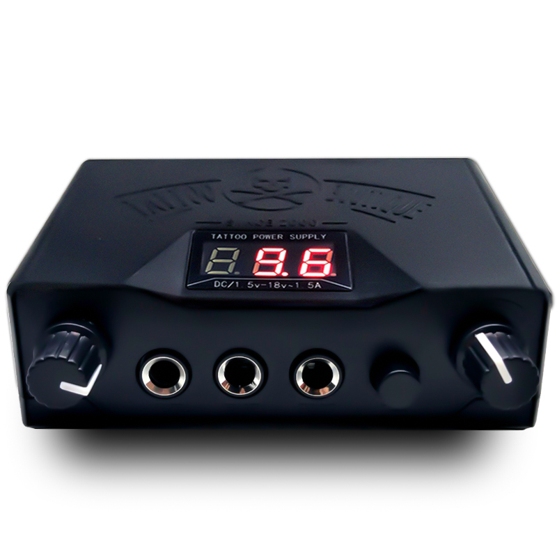 New!!! Black Double LED Display Tattoo Power Supply Permanent Makeup For Tattoo Machine Tattoo Kits  Supply