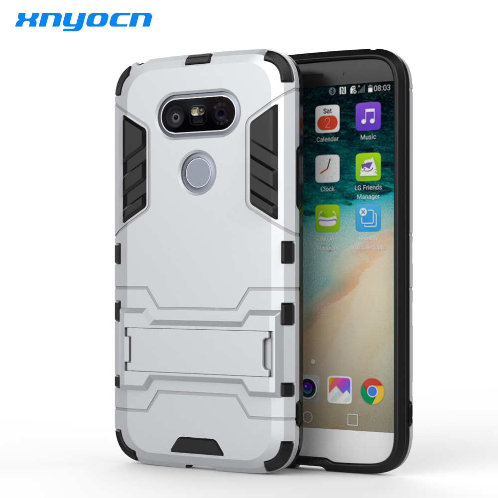 US $4 49 |Aliexpress com : Buy Hybrid Armor Phone Case For LG G5 G4 G6 V20  K10 K7 V10 V20 2 in 1 Combo Back Cover Kickstand Luxury Ultra Thin