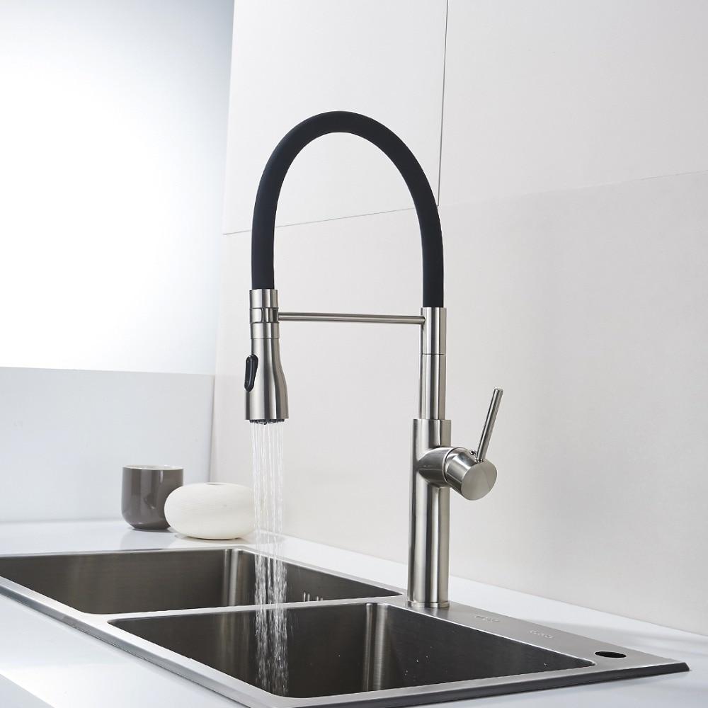 Unique Design Kitchen Faucet Brass Nickel Kitchen Taps Rotate 360 ...