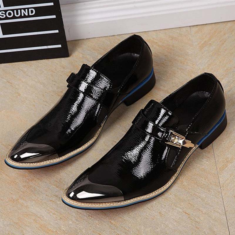 luxury fashion men oxford genuine leather black business office party wedding dress shoes male buckle shoes mens flats formal 2015 italian luxury alligator fashion mens dress shoes genuine leather with buckle black flats for man wedding party office 979