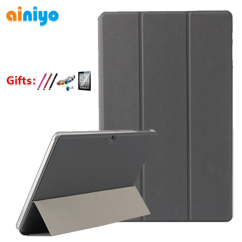 For Chuwi Hi10 Air Cover Case High Quality 10.1 Inch Pu Leather Case For CHUWI HiBook Pro /hibook / Hi10 Pro Tablet PC + 3 Gifts