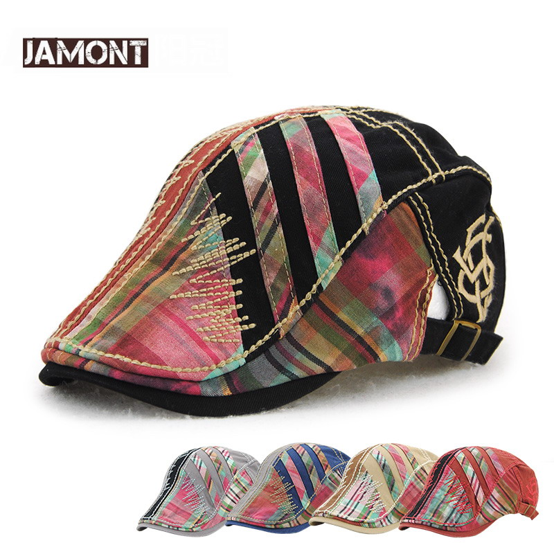 JAMONT Hat Ivy-Cap Beret Mens Caps Golf-Driving-Sun Cabbie Peaked Newsboy Flat Men's