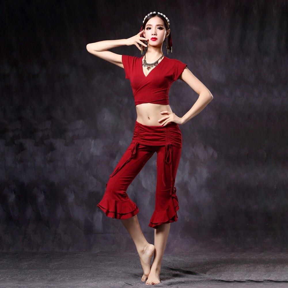 2018 Mujeres Tribal Danza del vientre superior y pantalones 2 piezas - Novedad