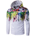 New Arrival Men Autumn Wear Personality Colorful Hoodies Male Casual O Neck Hip Hop Splash ink abstraction Sweatshirt