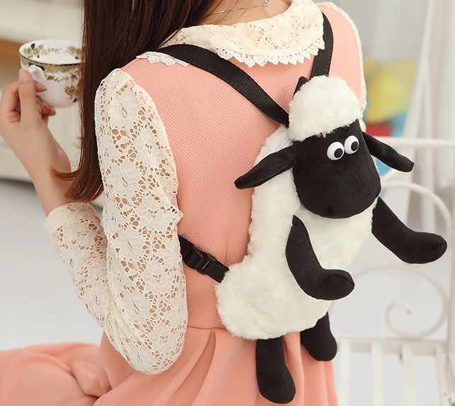 2016-Hot-Cartoon-Shaun-The-Sheep-Plush-Backpacks-Kawaii-25cm-30cm-Stuffed-Animal-Sheep-Shaun-Plush-Toys-for-Children-School-Bags-2