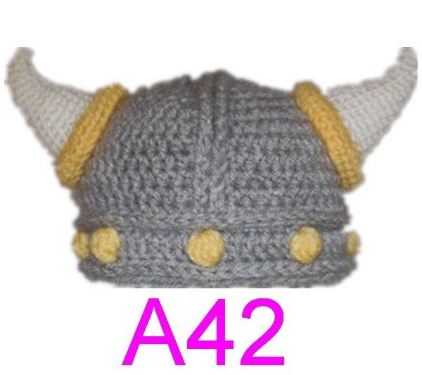60pcslot Crochet Viking Helmet Hat With Beard Viking Helmet