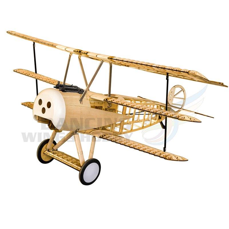 Classic Fokker Dr.I Balsa Wood Airplane 1.5M Laser Cut RC Plane Model Building Kit Electric&Gas Power Remote Control Aeroplane