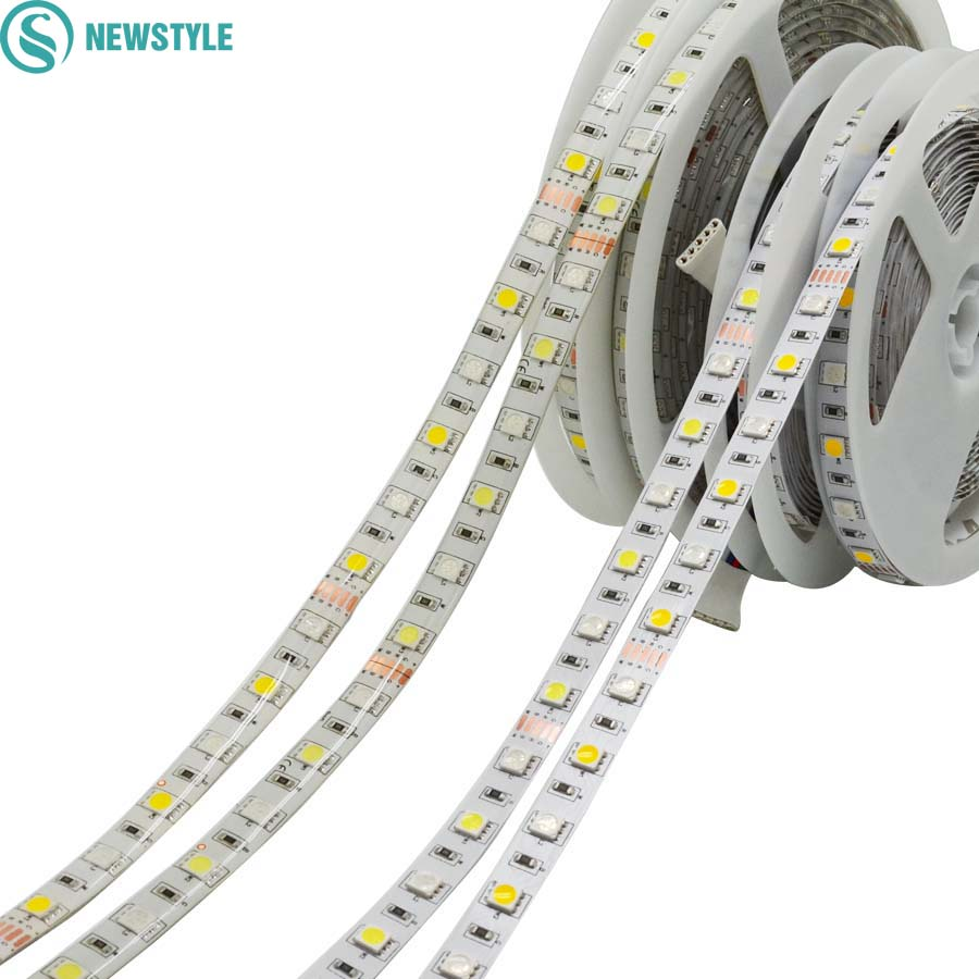 5m dc12v 5050 rgbw led strip flexible led light 60led m waterproof non waterproof rgb white. Black Bedroom Furniture Sets. Home Design Ideas