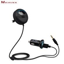 Cerilla Kit de Coche AUX Bluetooth 4.0 kits Manos Libres de Audio MP3 reproductor de Cancelación de Ruido de 5 V 2.1A Dual USB Cargador de Coche IOS Siri