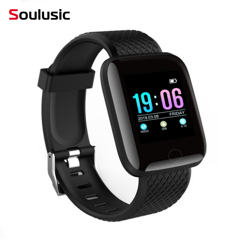 Soulusic D13 Smart Bracelet For Android iPhone IP67 Waterproof Heart Rate Tracker Blood Pressure Oxygen Sport Innrech Market.com