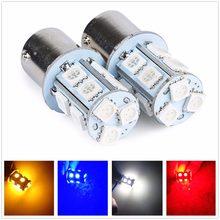 2 pces bay15d p21/5w 1157 13 5050 smd branco volta freio lâmpada led 12v 24v âmbar amarelo vermelho azul quente