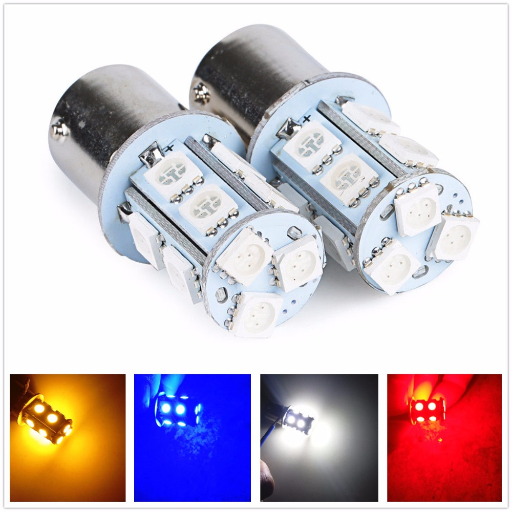 2 x Ice Blue 1157 BAY15D 2835 21SMD Extremely Bright LED Bulbs 10-30V