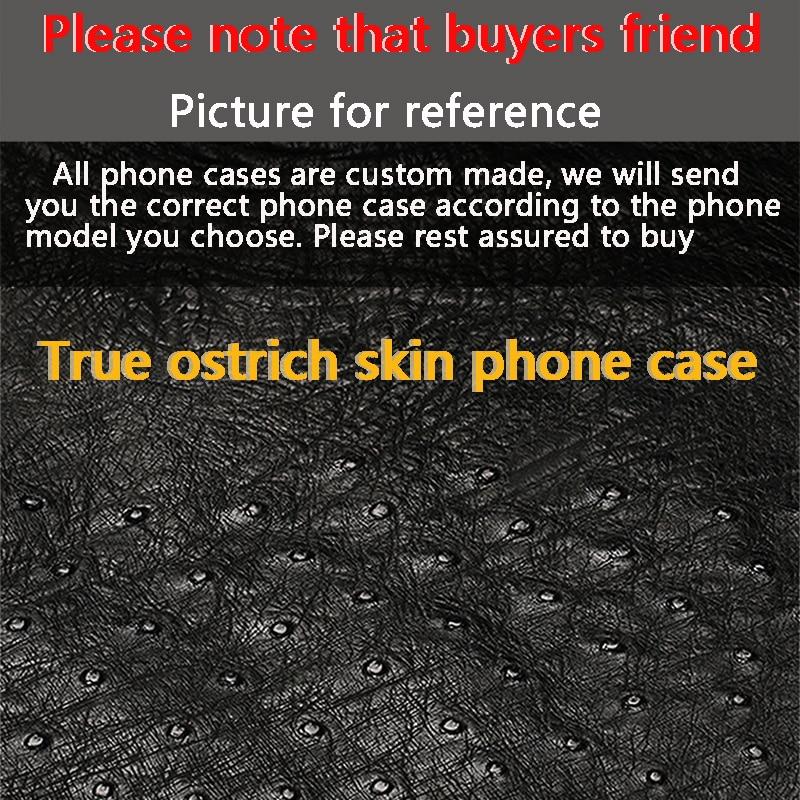Nieuwe half pack mobiele telefoon case voor Huawei P20 lite true struisvogel huid telefoon geval Luxe Lederen telefoon bescherming case - 6