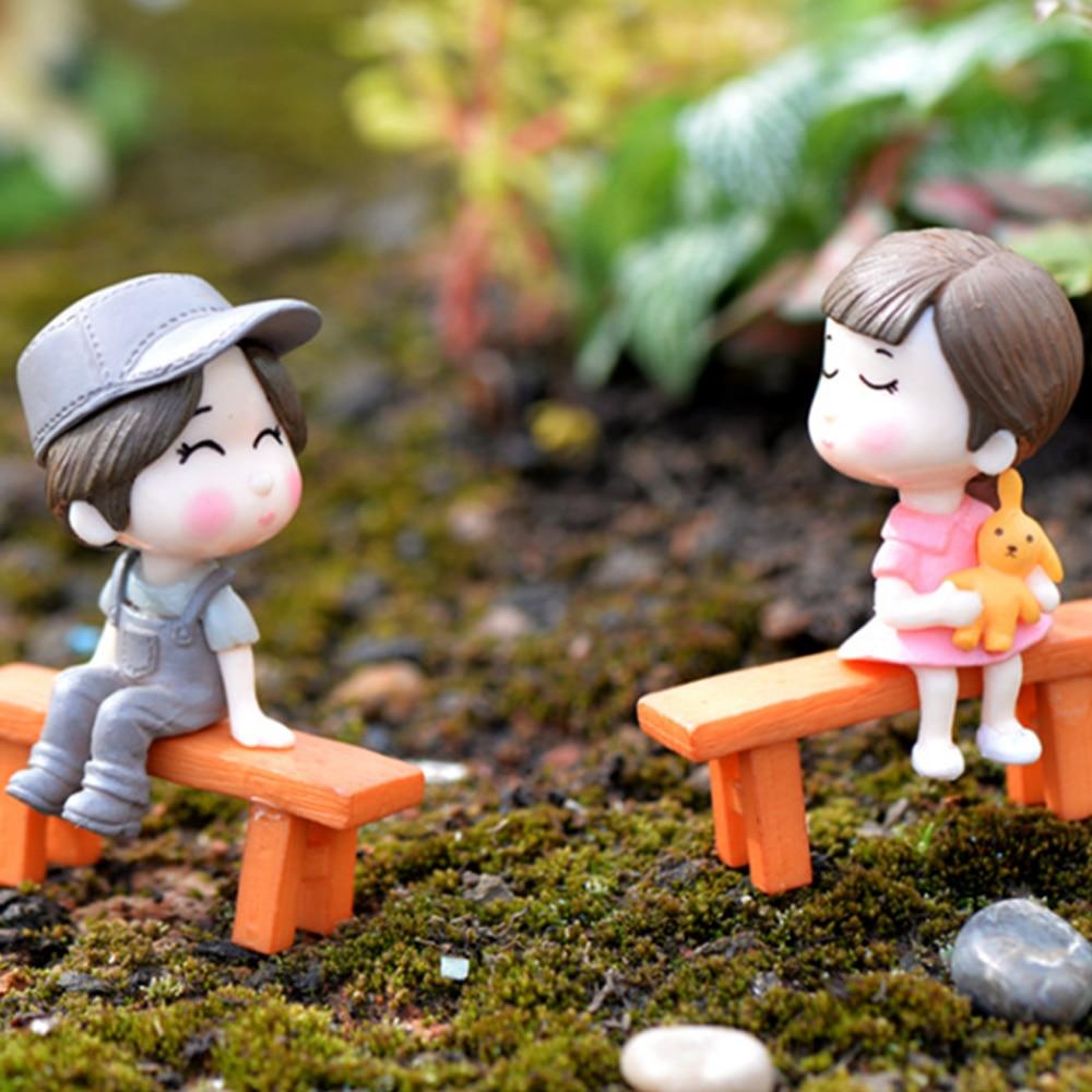 Полимерная миниатюрная сказочная садовая статуэтка, садовый гном, детский мультяшный газон, украшения для гостиной, декор для двора, Изысканный мини-орнамент