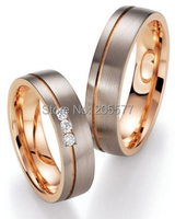luxury custom comfort fit wedding bands rose gold color health anniversary Bridal jewelry Engagement Rings sets