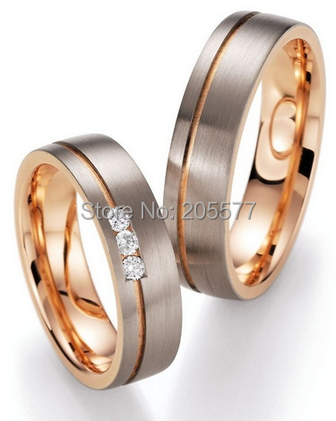 лучшая цена luxury custom comfort fit wedding bands rose gold color health anniversary Bridal jewelry Engagement Rings sets