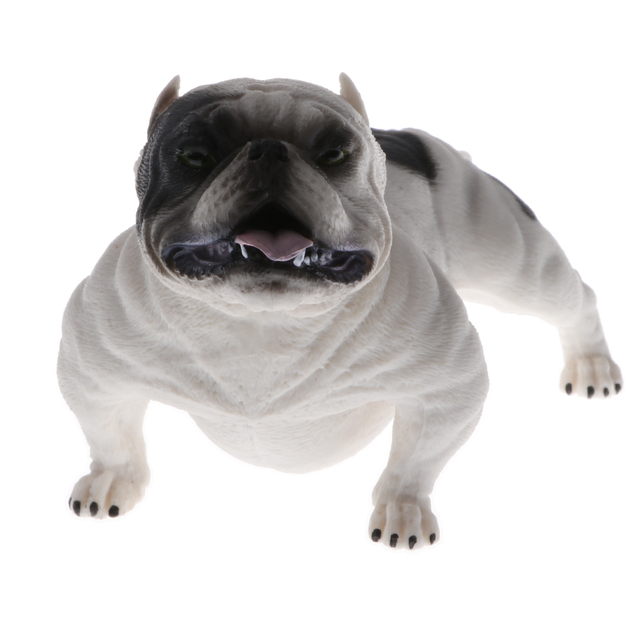 Simulation American Bully Pitbull Dog Animal Action Figure Model