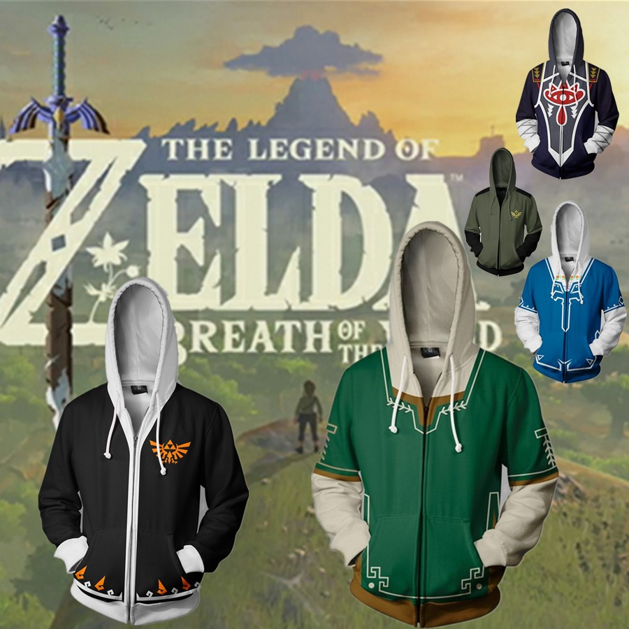 The Legend of Zelda Cosplay Hoodie Sweatshirts 3d Digital Printing Clothing Costumes