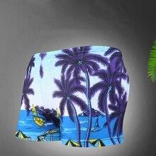 Summer Boys Swimming Trunks Children's Swimsuit Beach Coconut Tree Print Swimwear Bathing Suit Kids Shorts Pants Sport Bottoms