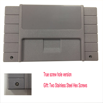 100PCS Replacement  Game Cartridge  For S-N-E-S 16bit game card Shell For USA Version Gray Game Player