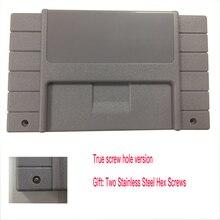 100 PCS Substituição Cartucho de Jogo Para jogo 16bit SNES cartão Shell Para OS EUA Versão Cinza Do Jogador