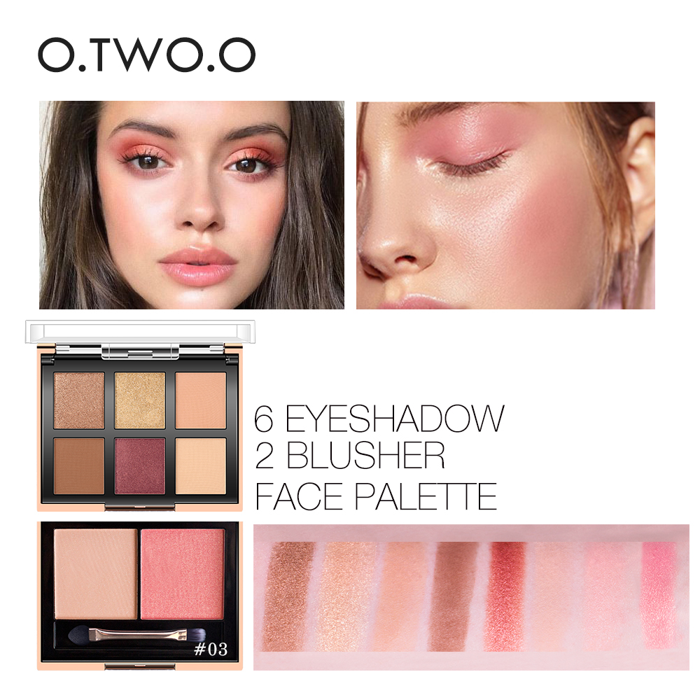O.TWO.O Eyeshadow Palette Highlighter Set Glitter Blusher Face Contour Makeup Pa