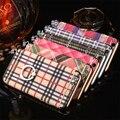 Multi-cor fantasia estilo tartan kickstand pc hard case capa para iphone 6 6 plus 7 7 plus phone case