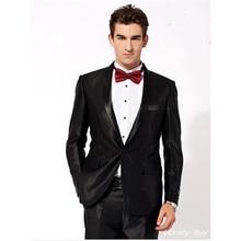 western wear suits tuxedo one button custom made suit groom wedding dress black slim fit suit 2017