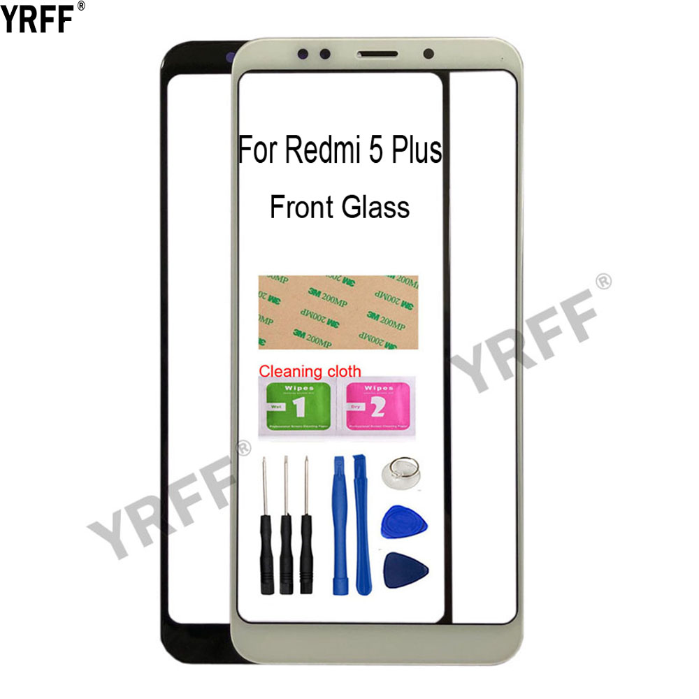 5.99'' Mobile Touch Screen Outer Glass For Xiaomi Redmi 5 Plus  Front Glass Panel Replacement