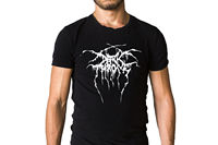 Darkthrone Band Logo Black T Shirt Casual Plus Size T Shirts Hip Hop Style Tops Tee