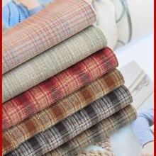 D30 DIY Япония маленькая ткань группа Пряжа-окрашенная ткань, для шитья Лоскутное шитье ручной работы, сетка полоса точка 50x70 см есть подарок