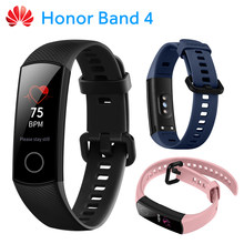 Huawei Honor Band 4 Smart Wristband with 0.95-inch Full Color AMOLED Screen 5ATM Waterproof TruSleep Monitoring 14 Days Battery(China)