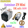 Neueste Asic ZEC Miner Antminer Z9 Mini 10 k Sol/s 300 W Equihash Mit 750 W NETZTEIL. Gewinn ist höher als E3 G2 S9 L3 + D3 T9 +