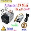 Nieuwste Asic ZEC Mijnwerker Antminer Z9 Mini 10 k Sol/s 300 W Equihash Met 750 W PSU. Winst is hoger dan E3 G2 S9 L3 + D3 T9 +