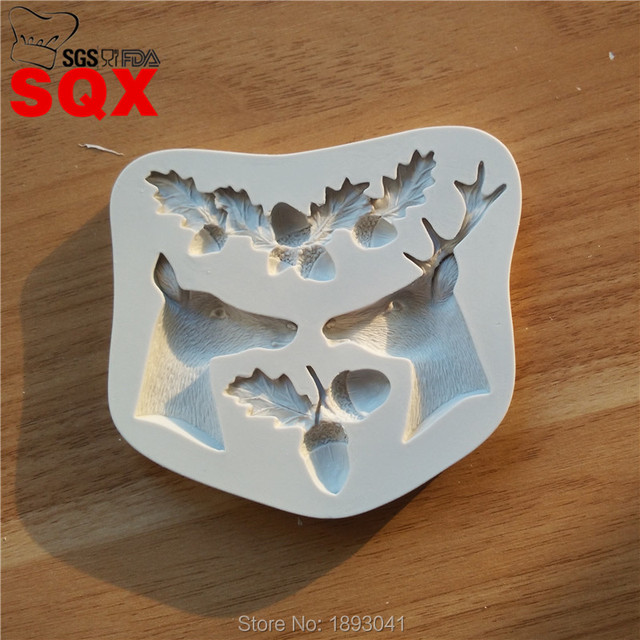 Elk Pinecone Sugar Cake Silicone Mold Shape, Cake Decorating Tools, Dry  Pace Shape Mould