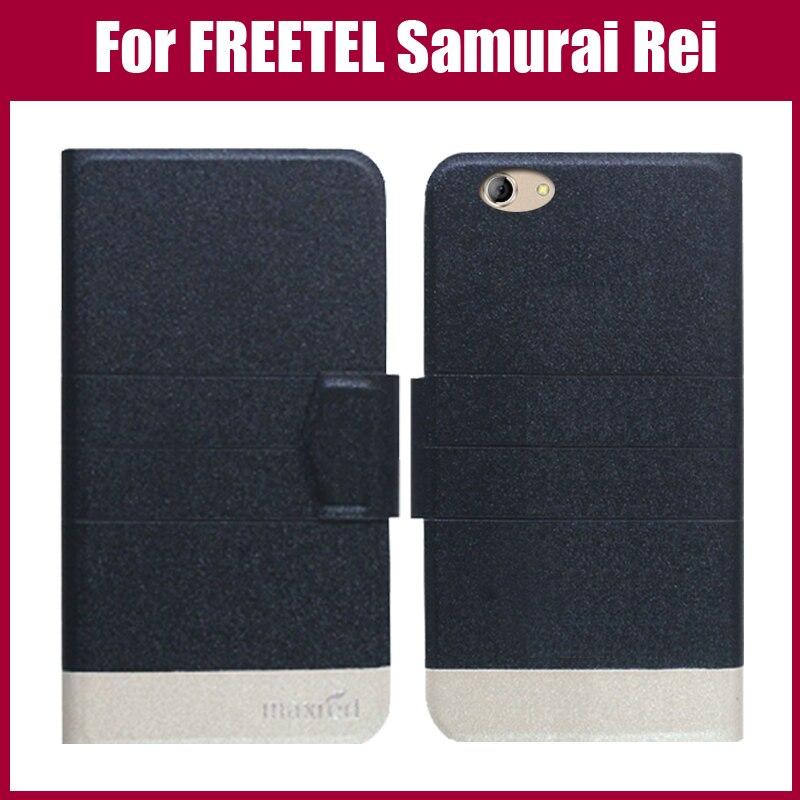 Лидер продаж! Freetel самурая Rei случае Новое поступление 5 цветов модные ультра-тонкий кожаный защитная крышка телефона чехол