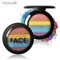 New Rainbow Highlighter Shimmer Eyeshadow Makeup Palette Cosméticos Blush Em Pó Contorno Para Face Make up Mudança Destaque