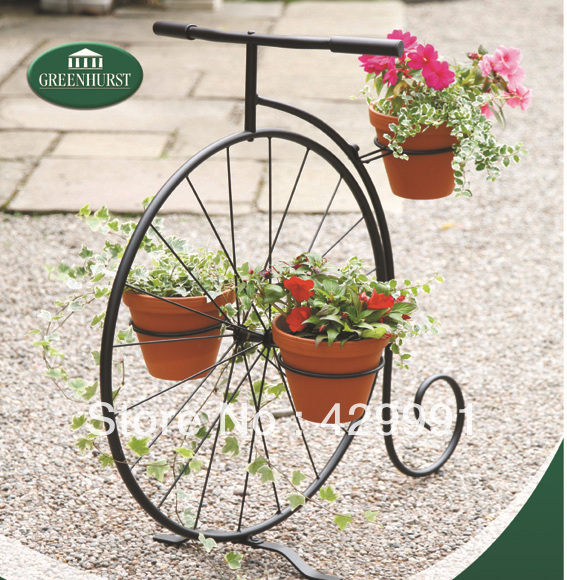 High Quality K/D Home U0026 Garden Decorative Single Bicycle Planter Stand ,Creative Bicycle  Planter Stand
