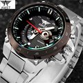 Famous Brand AMST AM3008 Quartz Watch Men Stainless Steel Fashion Casual Wristwatch Black Case with Calendar Relogio Masculino