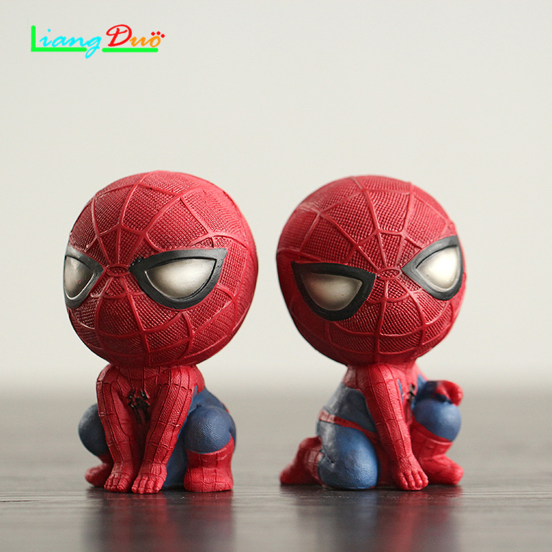 Spider Man playmobil de spiderMan Anime Action Figure Resin Model plastic hot toys collectibles for children festival geschenken