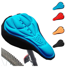 Bicycle Saddle 3D Soft Bike Seat Cover Cycling Silicone Seat Cushion Cycling Saddle for Bike Accessories riding Equipment цена