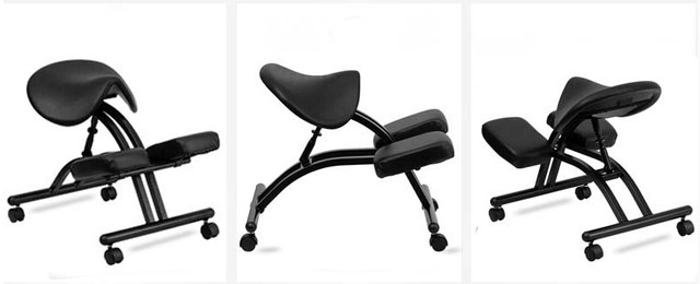 Modern Ergonomic Kneeling Chair With Black Saddle Seat And Casters Office Furniture Adjule For Home