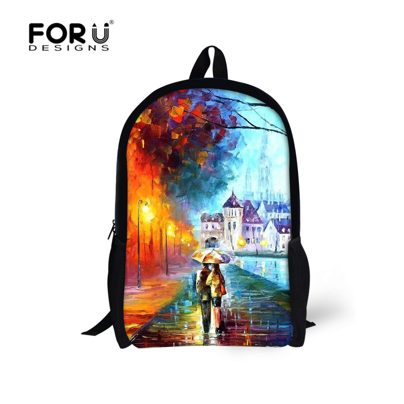 FORUDESINGS Children School Backpacks 3D Painting Printing Backpack For Teenagers Girls Women's Travel Shoulder Bag Kid Bagpack