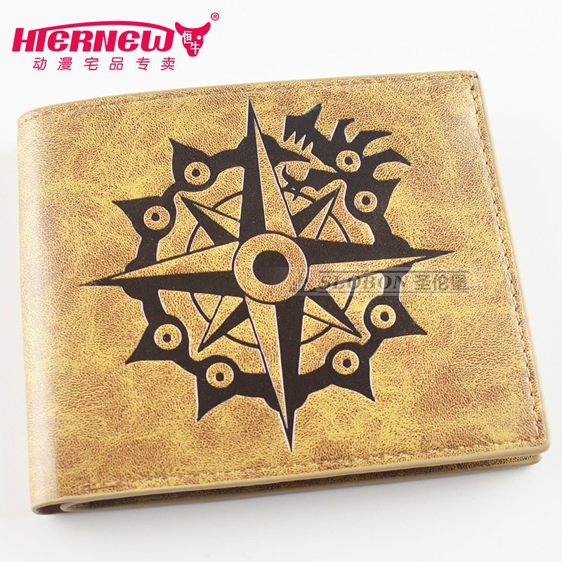Anime The Seven Deadly Sins New fashion printing PU man woman personality short Wallet Leisure fashion gift Wallet  wallet