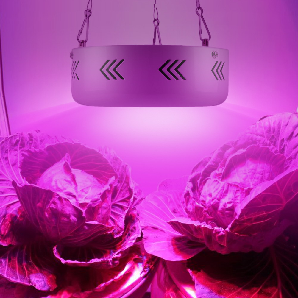Full Spectrum UFO 10W Double Chips AC85~265V 360W Red+Blue+warm white+white+IR+UV LED Grow Lights for Hydroponics Plants Flowers full spectrum double chips 10w epistar 36led ac85 265v red blue warm white white ir uv led grow lights lamp for hydroponic plant