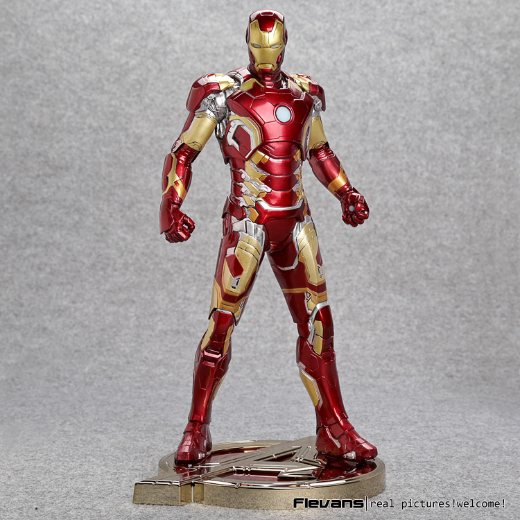 Iron Man Mark XLIII 43 1/6 Scale Pre-painted Model Kit with LED Light PVC Action Figure Collectible Model Toy new hot christmas gift 21inch 52cm bearbrick be rbrick fashion toy pvc action figure collectible model toy decoration